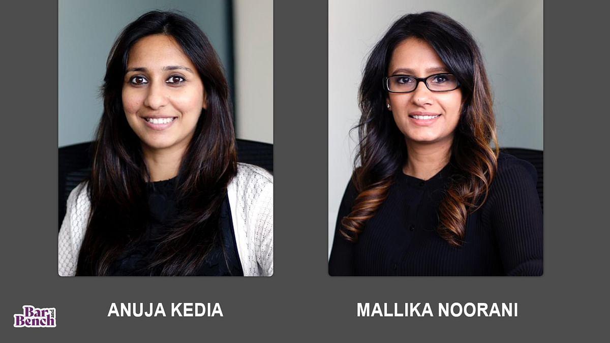 Parinam Law Associates promotes Mallika Noorani and Anuja Kedia to Equity Partnership