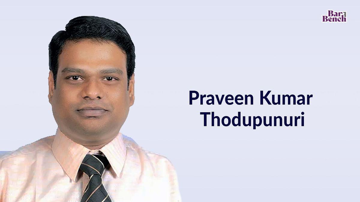 Praveen Kumar Thodupunuri joins IndusLaw as Partner in firm's Real Estate Practice