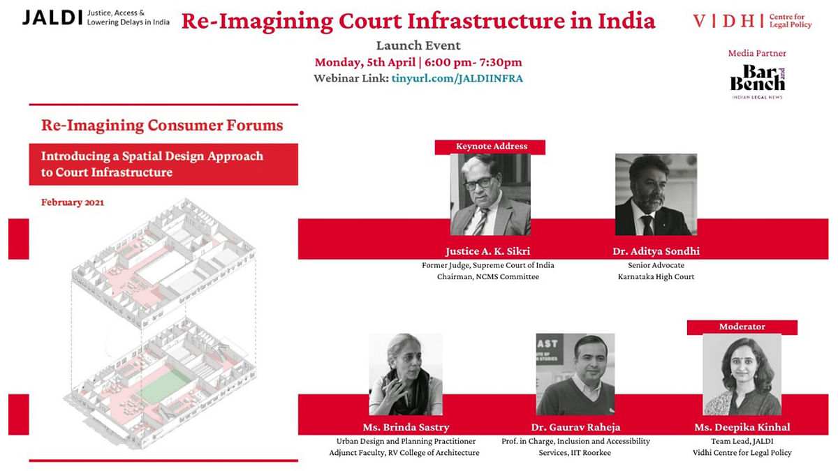 """Launch of Report on """"Re-Imagining Court Infrastructure in India"""" by VIDHI,  Srishti Institute of Design [Register now]"""