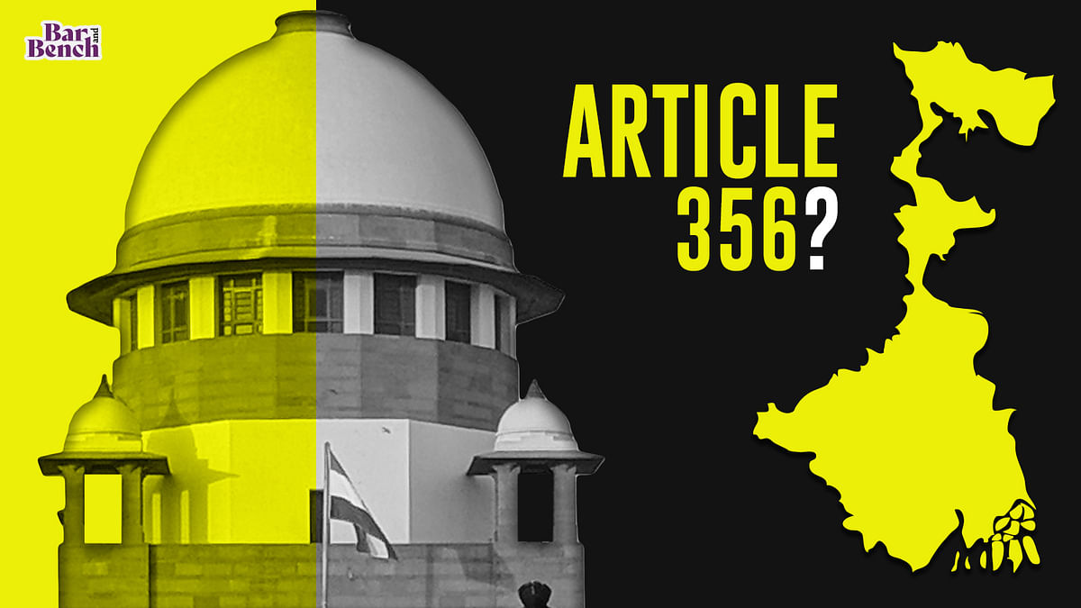 [BREAKING] Plea in Supreme Court seeks declaration under Article 356 to consider imposing President's rule in West Bengal