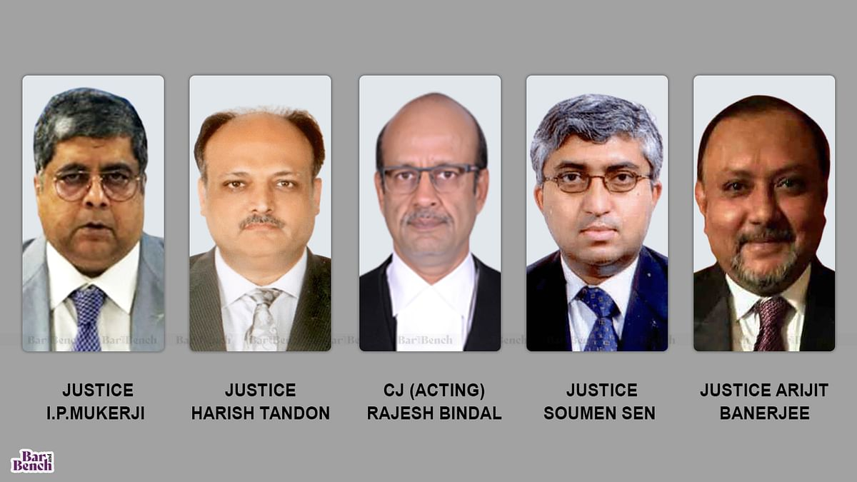[BREAKING] Calcutta High Court constitutes 5-judge Bench to hear case on arrest of TMC leaders in Narada scam; matter to be heard on May 24