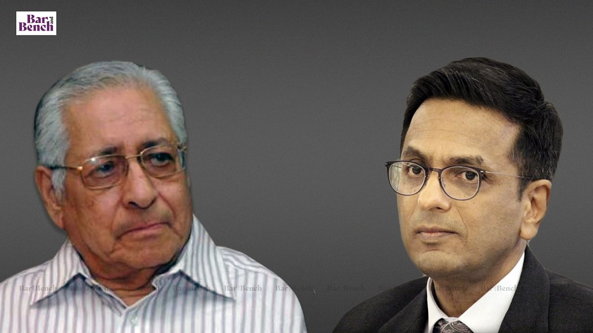 """""""He was my mentor, accepted judgeship on his advice:"""" Supreme Court judge Justice DY Chandrachud recounts his memories about Soli Sorabjee"""