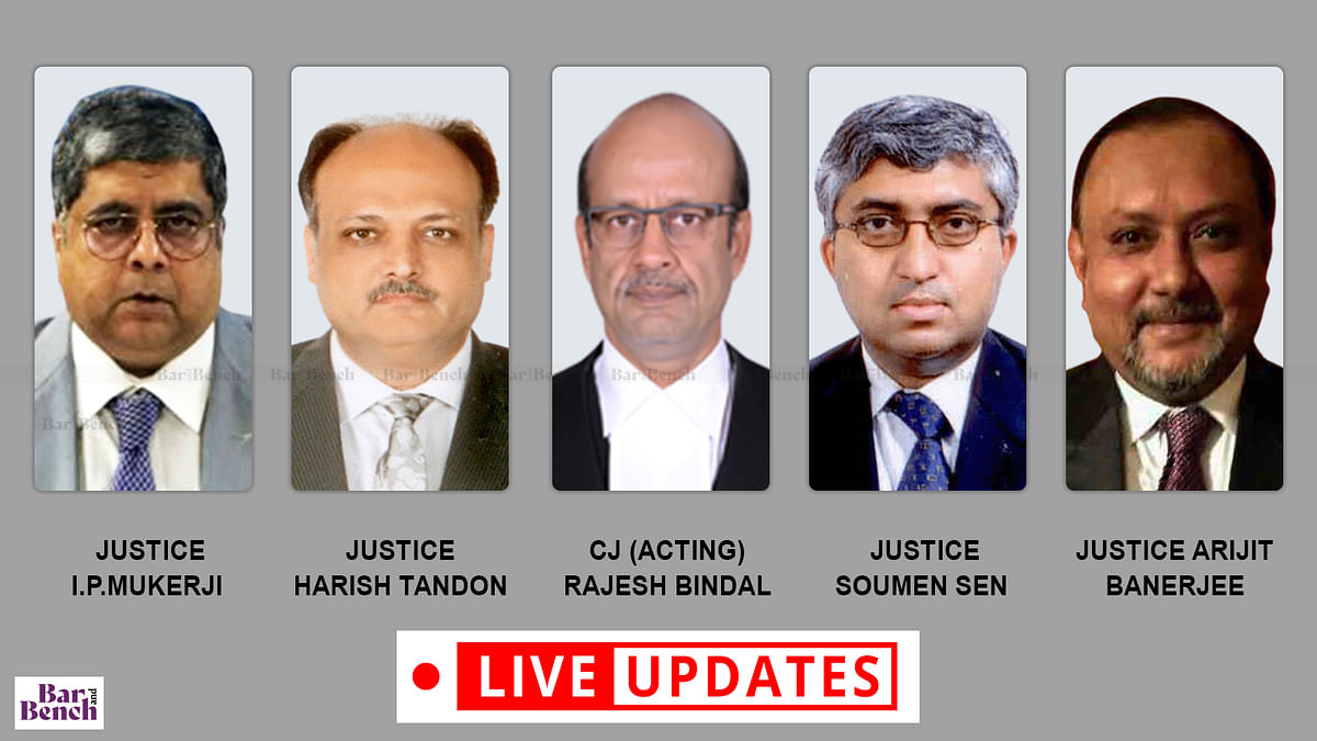 Narada Scam hearing: 5-judge bench of Calcutta High Court [LIVE UPDATES]