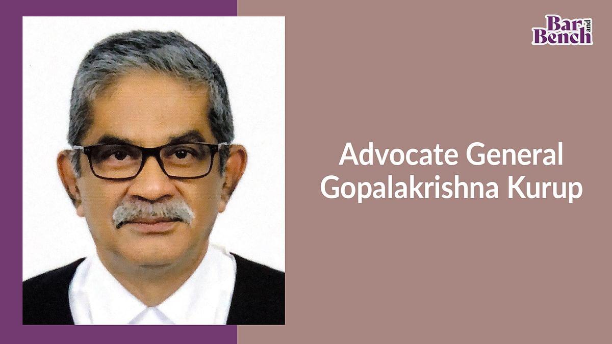 Senior Advocate Gopalakrishna Kurup to be new Advocate General of Kerala