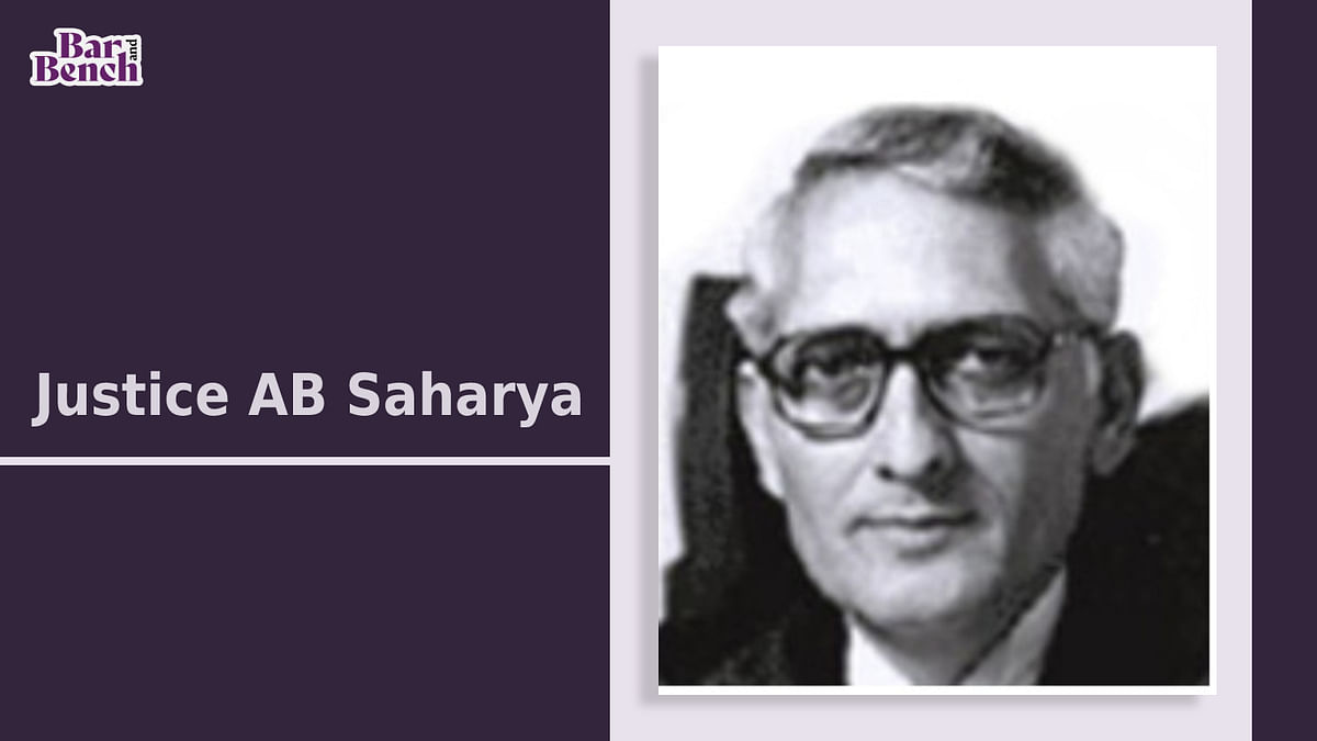 A tribute to Justice AB Saharya, an old school gentleman and judge