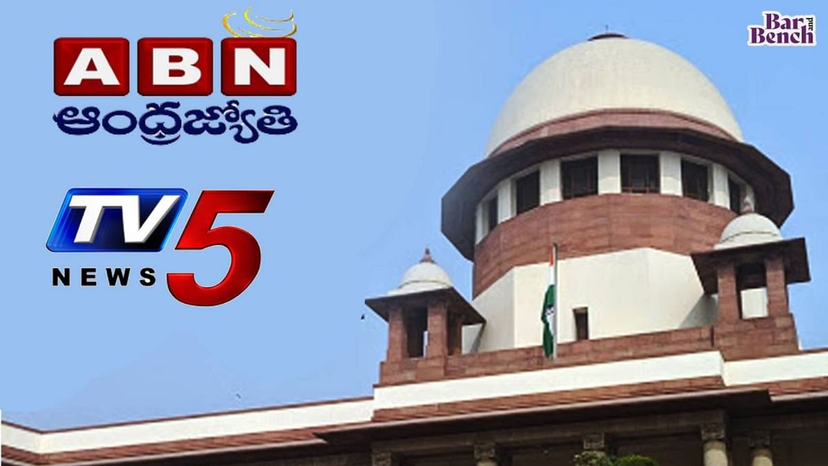"""[BREAKING] Andhra-based TV5 and ABN news channels charged with Sedition, move Supreme Court against FIR; claim """"chilling effect"""" on media"""