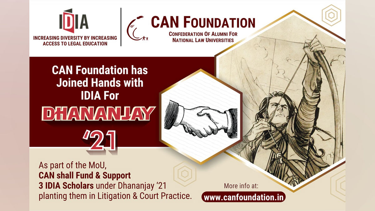 IDIA and CAN Foundation sign MOU for supporting IDIA Scholars under Project Dhananjay