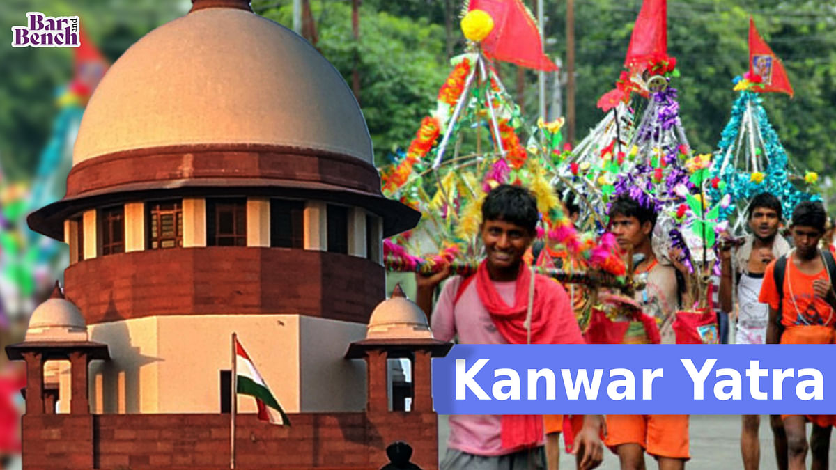 [BREAKING] Supreme Court takes suo motu cognizance of Uttar Pradesh decision to allow Kanwar Yatra during COVID-19, issues notice to UP