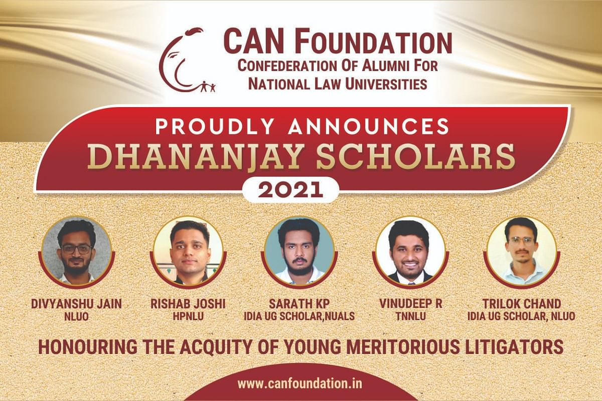 CAN Foundation announces five scholars under Dhananjay 2021, two IDIA scholars selected
