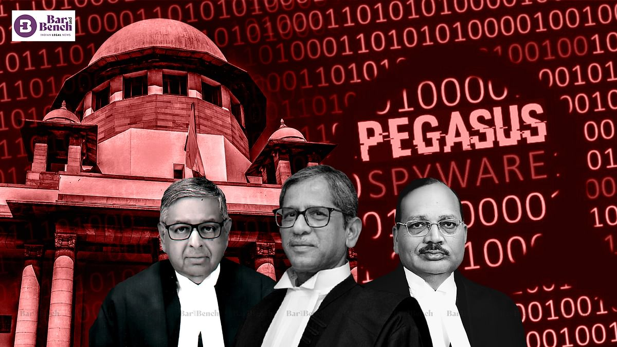 [BREAKING] Supreme Court issues notice to Central govt on petitions seeking probe into Pegasus Snoopgate; Govt says web portals weaving narrative