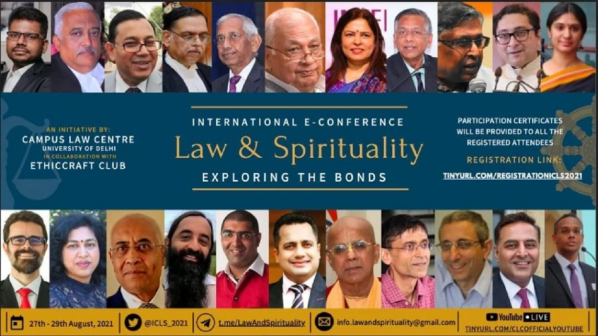 """International E-Conference on """"Law & Spirituality"""" by Campus Law Centre, University of Delhi & Ethiccraft Club"""