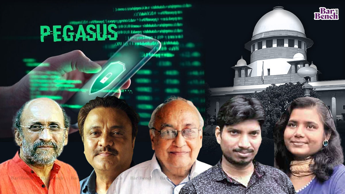Five journalists in Pegasus snooping list move Supreme Court; seek Judicial Oversight Mechanism to deal with complaints, punish govt officials