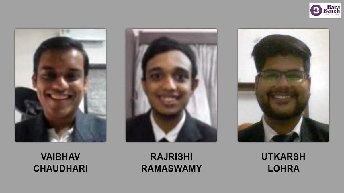 SLS-Hyderabad emerges as First Runners-Up in Second KLE Law College, Navi Mumbai National Moot Court Competition, 2021