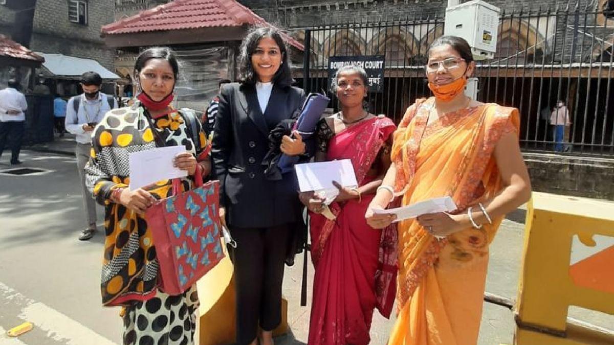 Vimla, Nita and Bani with Advocate Isha Singh