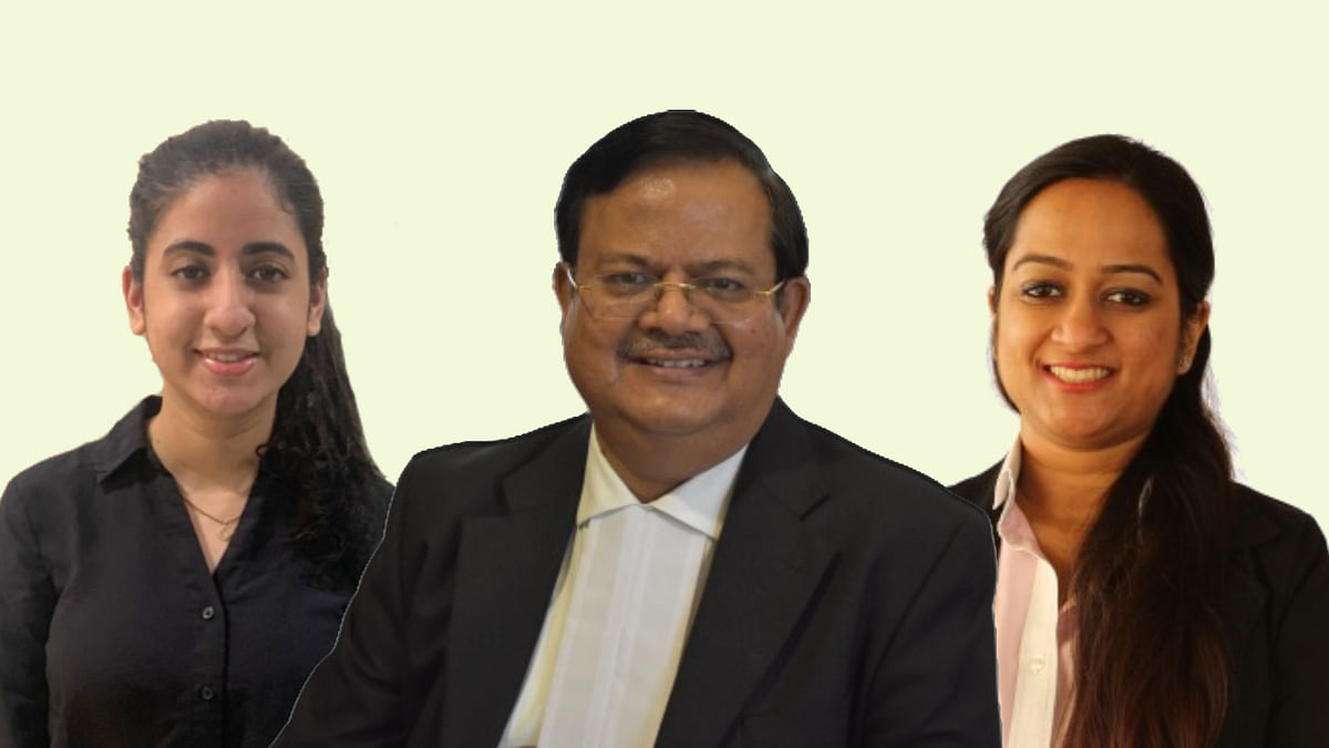 Krrishan Singhania (c), Srishti Singhania (r), Nishi Shah (l)