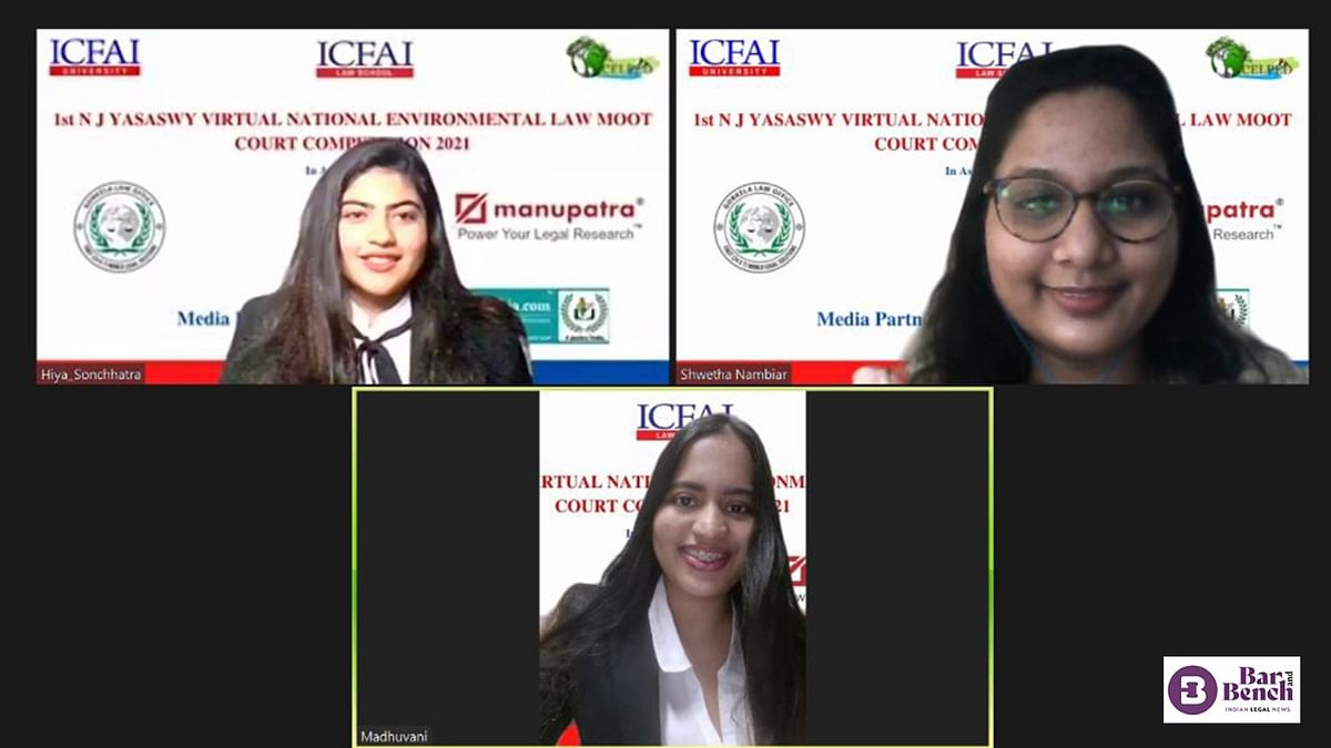 SLS-Hyderabad wins First NJ Yasaswy Virtual National Environmental Law Moot