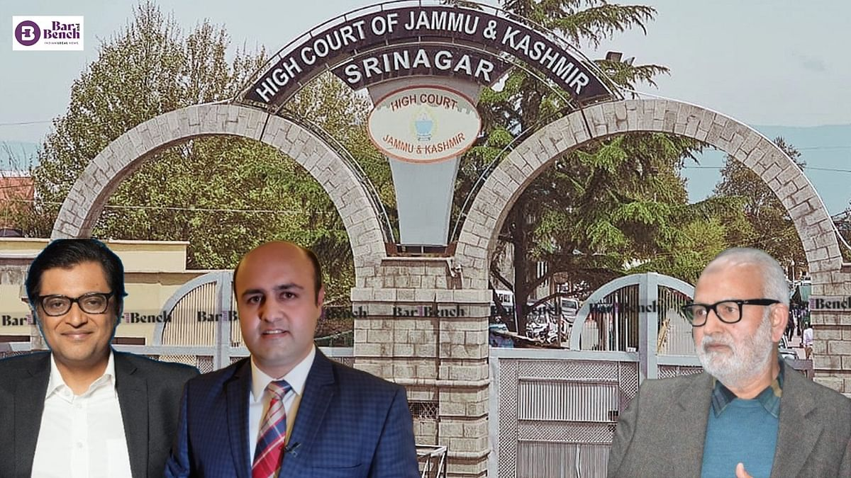 Jammu and Kashmir High Court quashes defamation case against Arnab Goswami, Aditya Raj Kaul
