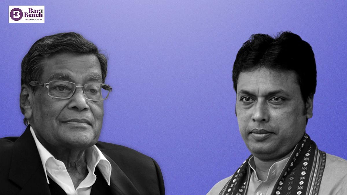 Attorney General KK Venugopal declines to give consent for contempt case against Tripura CM Biplab Kumar Deb