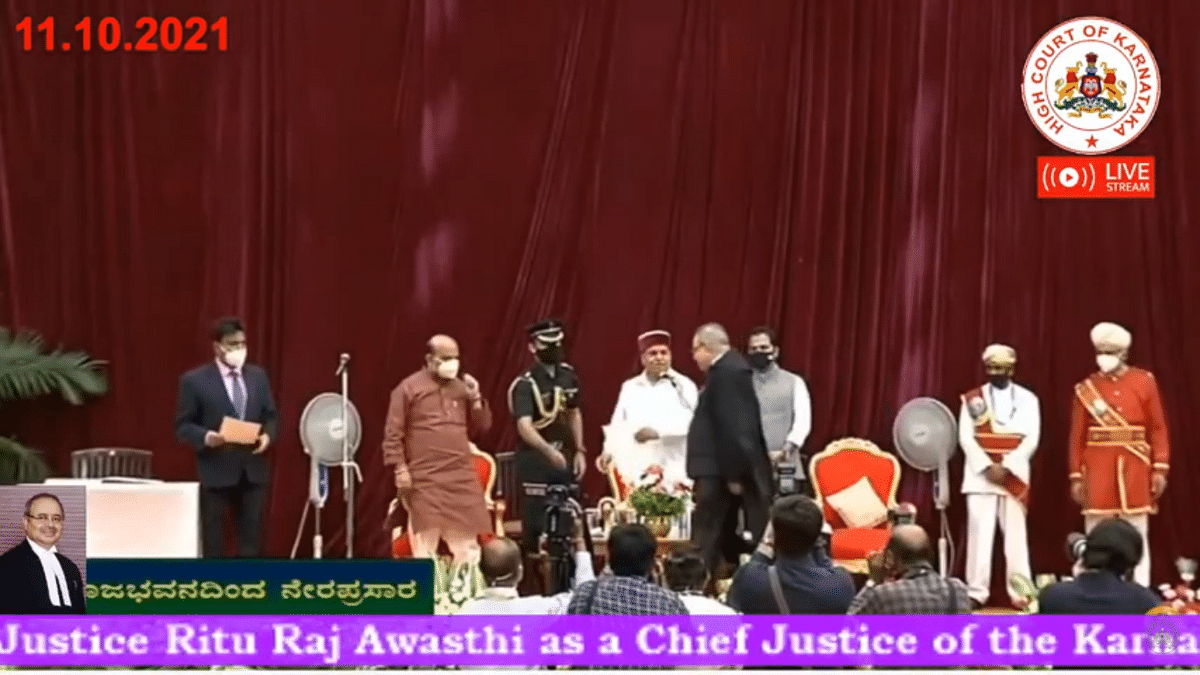 Justice Ritu Raj Awasthi takes oath as Chief Justice of Karnataka High Court