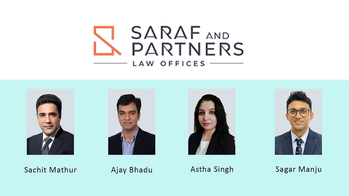Saraf and Partners strengthens corporate practice with four new Partners