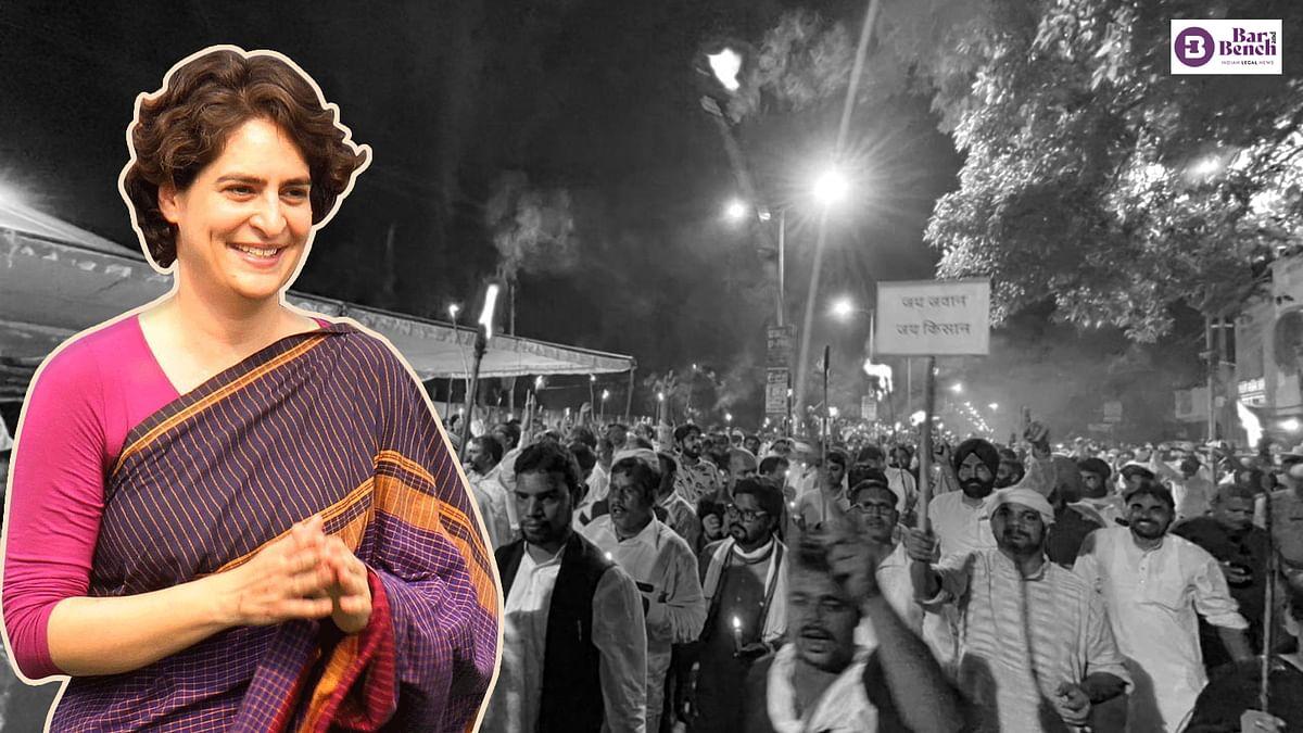 [Lakhimpur Kheri case] Priyanka Gandhi not produced before magistrate after detention: Lawyers claim