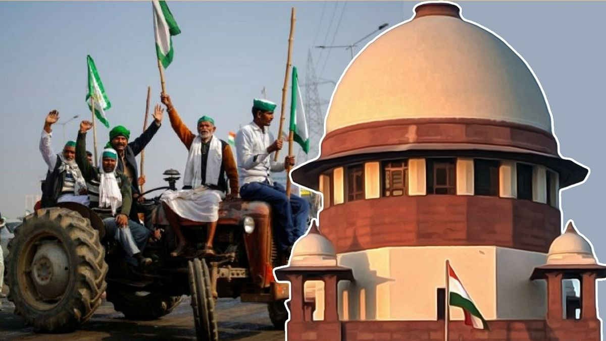 """[Farmers Protests] """"We are not against protest even when legal challenge is pending but roads cannot be blocked:"""" Supreme Court"""
