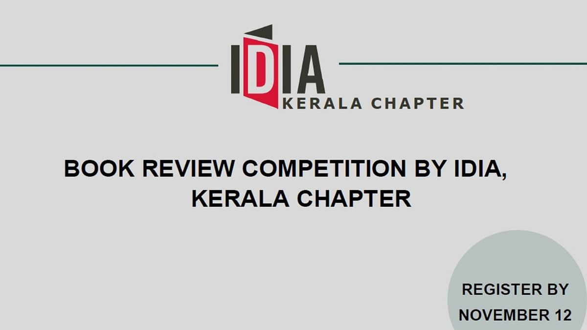 Participate: IDIA Kerala Chapter's Book Review Competition (Register by Nov 12)