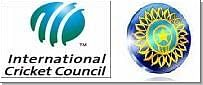 David Becker and Iain Higgins for ICC and Justice Anand and Goolam Vahanvati for the BCCI