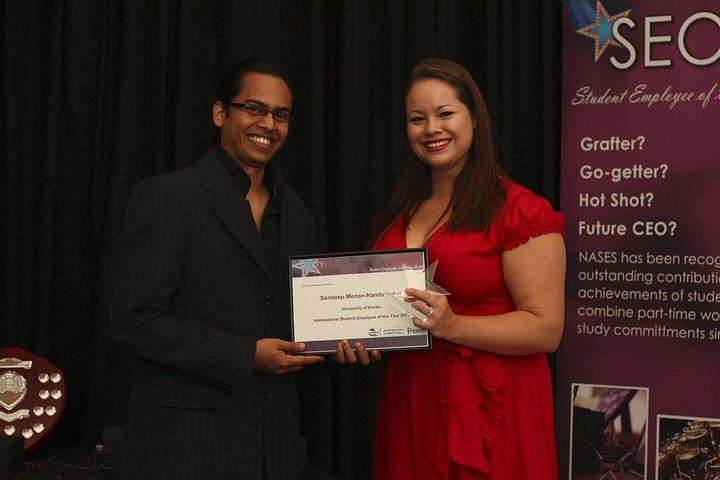 NUALS Alumnus bags Student Employee of the Year  International Student Award in UK