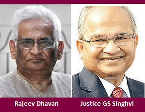 Rajeev Dhavan, Justice Singhvi face off in Radia Tapes matter; Justice Singhvi recuses from the case
