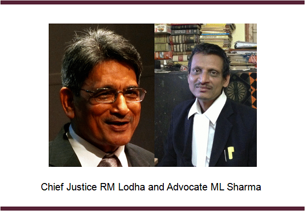 "Off day for ""In person Petitioners"" in CJI Lodha's court; Slaps costs on ML Sharma while another party breaks down"