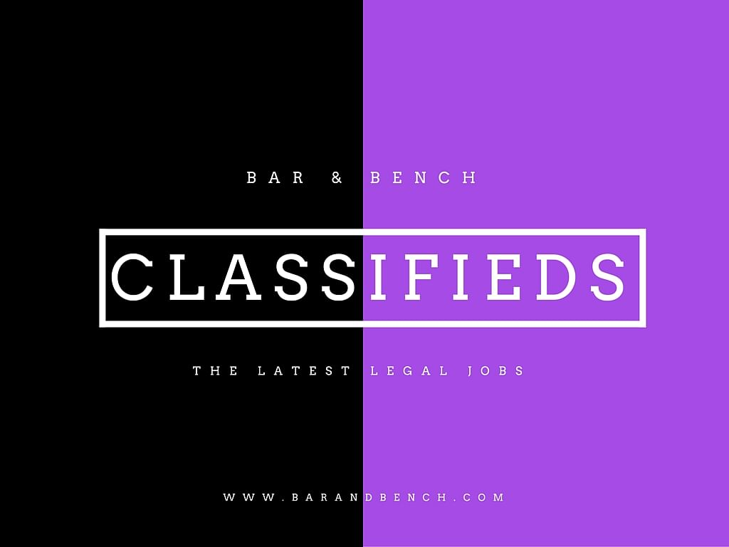Bar & Bench's Legal Jobs: 11 of the latest job postings