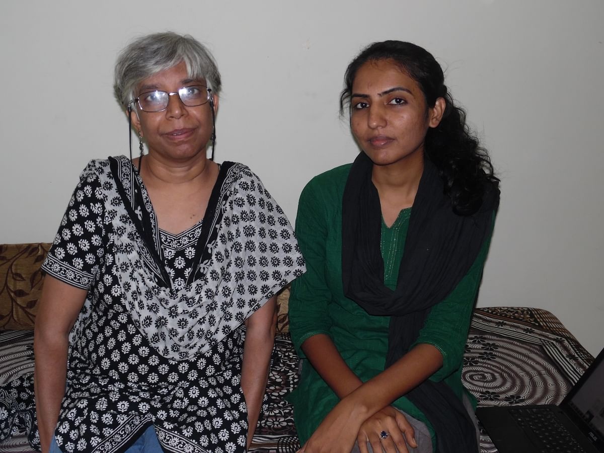 Shalini (l) and Isha (r) were forced to leave Jagdalpur in February this year