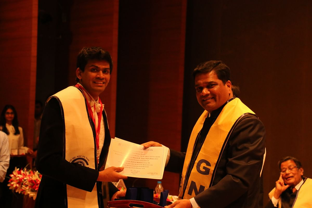 The medalists: Varun Chauhan, Gujarat National Law University