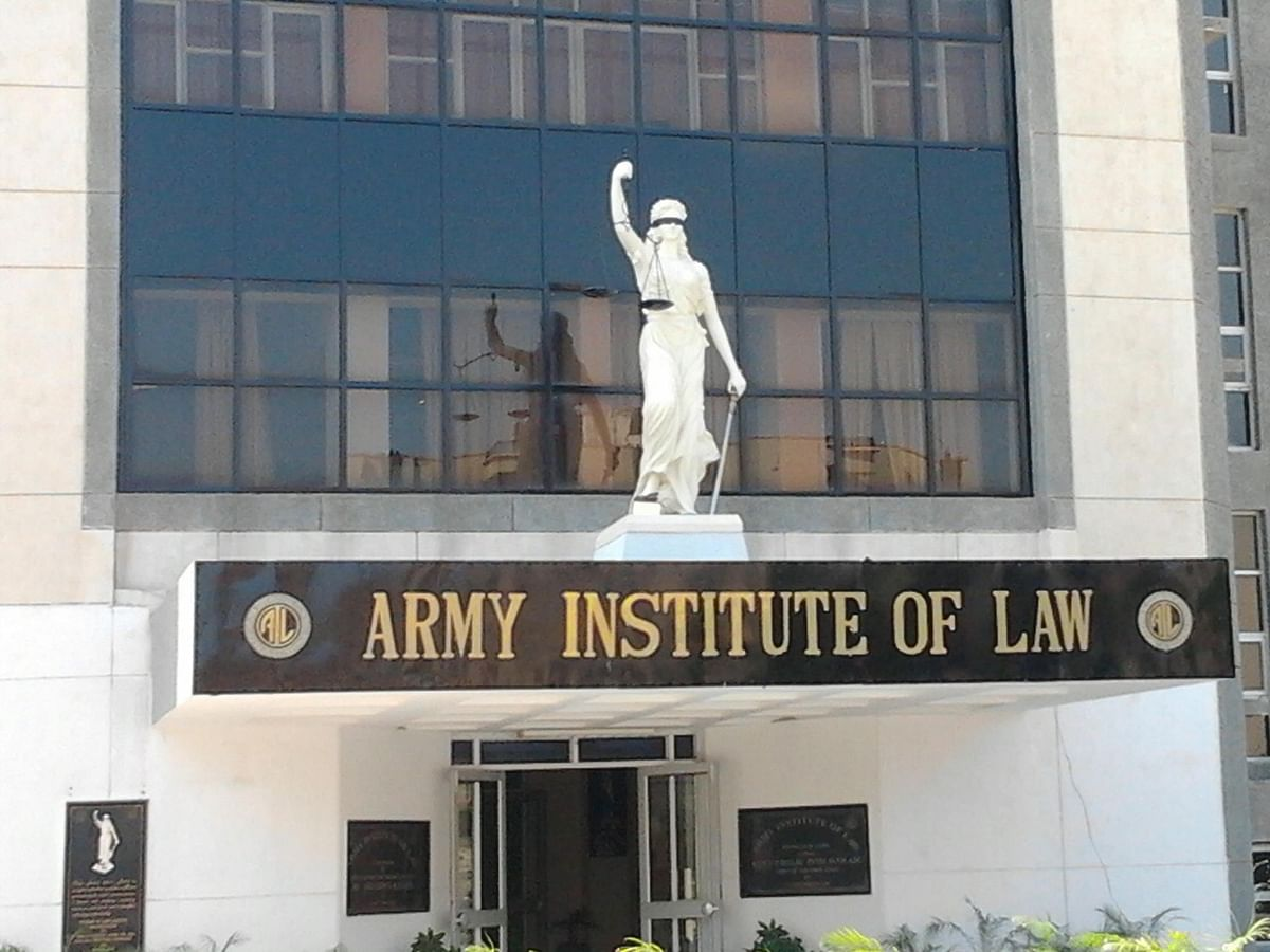 Army Institute of Law Protests: Students register protest over management's response to demands