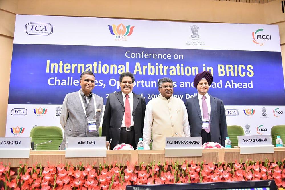 Why do BRICS countries produce so few global arbitrators, asks Law Min Ravi Shankar Prasad