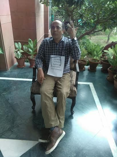 Dr. Singh on hunger strike
