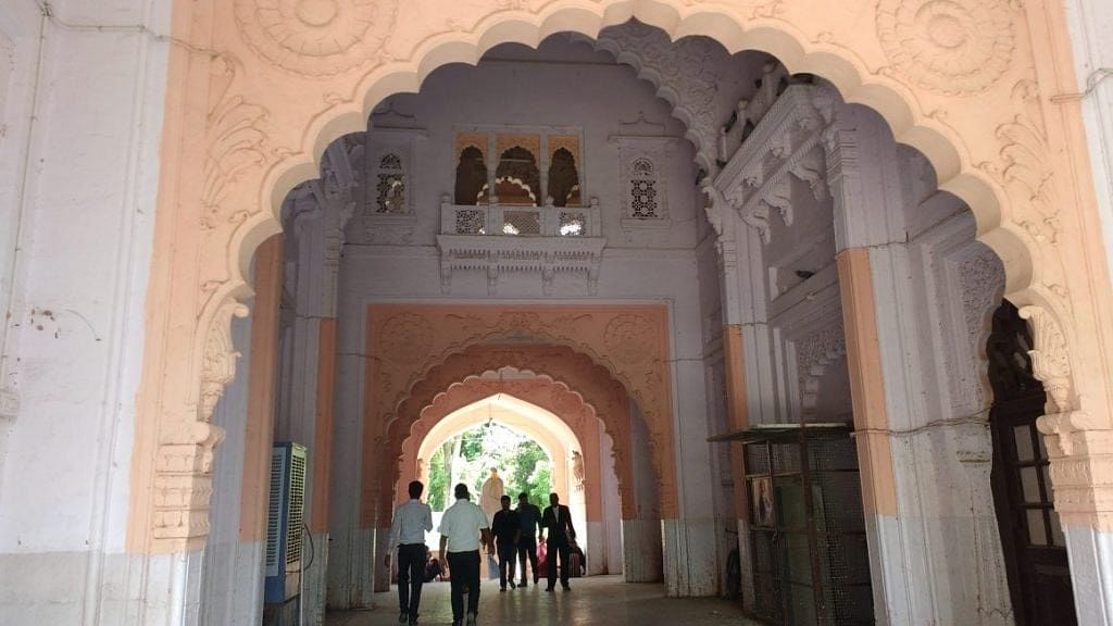 The entrance to the Rajasthan High Court at Jodhpur