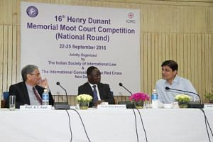 The judges at the Henry Durant Memorial Moot