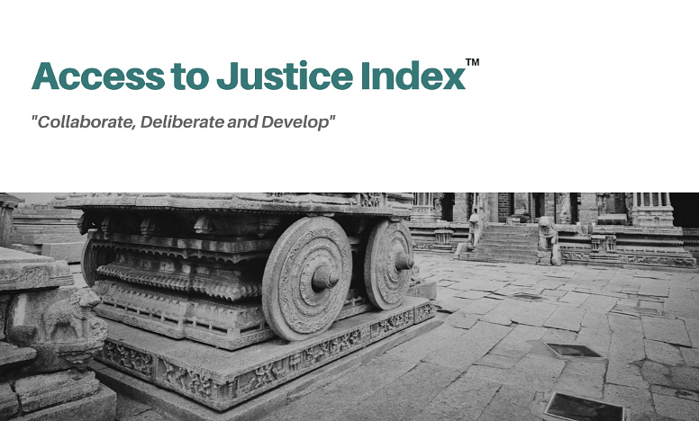Where does India rank in terms of access to justice?