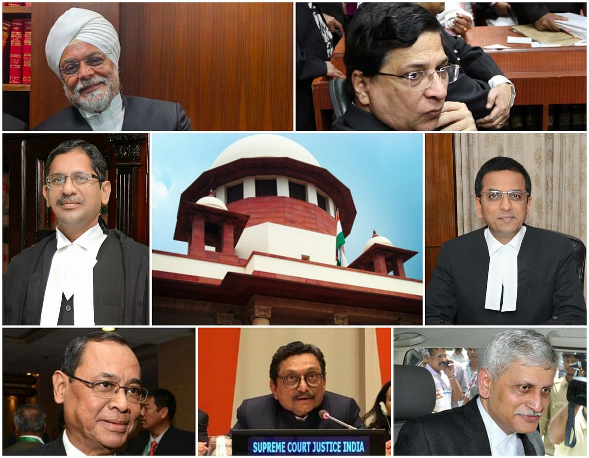 The next seven Chief Justices of India and their collegiums
