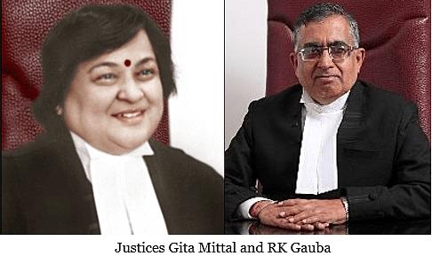 Gita Mittal, RK Gauba JJ give dissenting opinions in murder case
