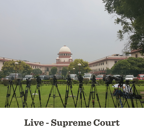 Petitions challenging Sabarimala Judgment: Live Updates from Supreme Court