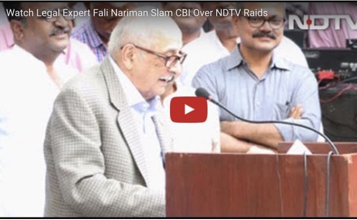 Fali Nariman rips into CBI, government for threat to press freedom