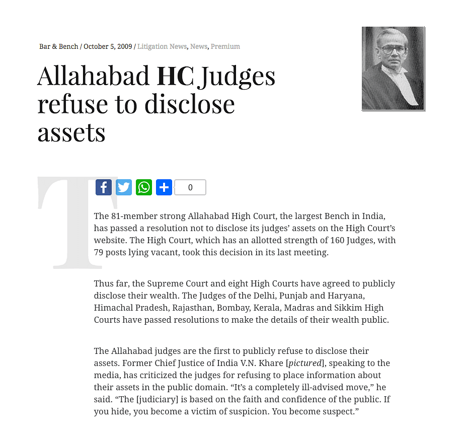 #JudgesNetWorth: Assets of 13 Supreme Court judges yet to be published on SC website