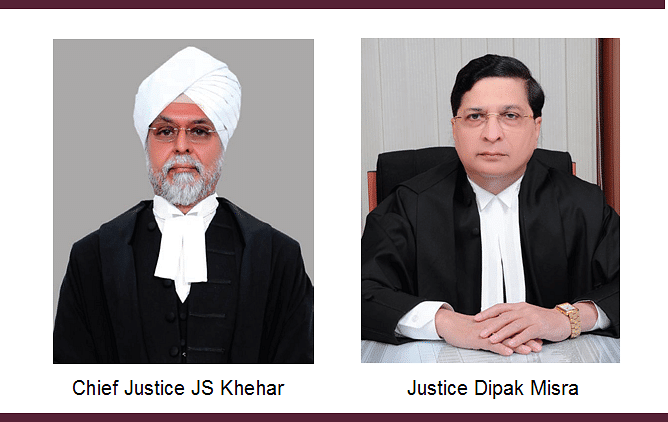 CJI JS Khehar recommends Justice Dipak Misra as the 45th Chief Justice of India