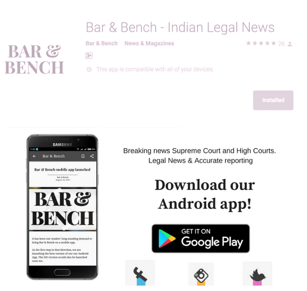 Bar & Bench mobile app launched