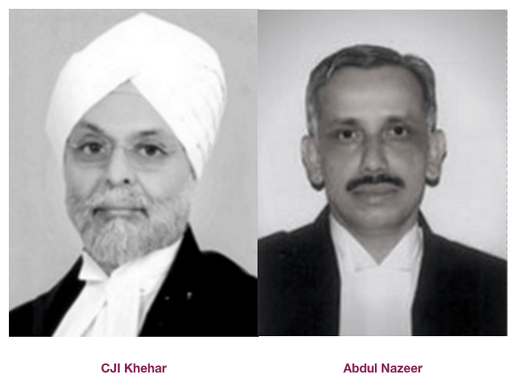 Former CJI JS Khehar and Justice Abdul Nazeer wrote the minority judgments in the Triple Talaq case