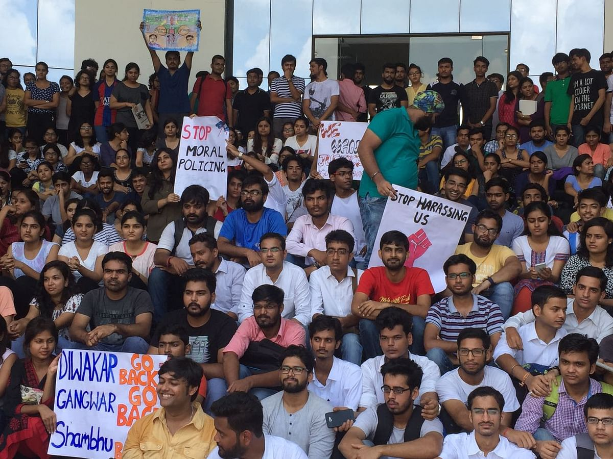 RMLNLU students on protest over alleged sexual harassment, administrative inefficiency