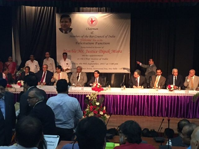 Bar Council of India holds felicitation ceremony for CJI Dipak Misra